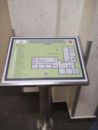 Plan tyflograficzny w ŚDS w Nysie